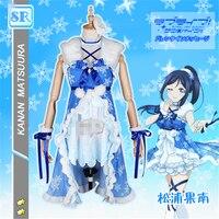 Japanese Anime Aqours Love Live Kanan Matsuura Halloween Cosplay Costume Dress For Playing Snow Free Shipping
