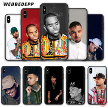 WEBBEDEPP Chris Brown Breezy Zachte Siliconen Case voor iPhone 8 7 6S 6 Plus 11 Pro XS Max XR X 5 5S SE Back Shell(China)