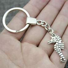 31x16mm Double Sided Hippocampal Keychain Men Jewelry New Fashion Party Gift Dropshipping Jewellery