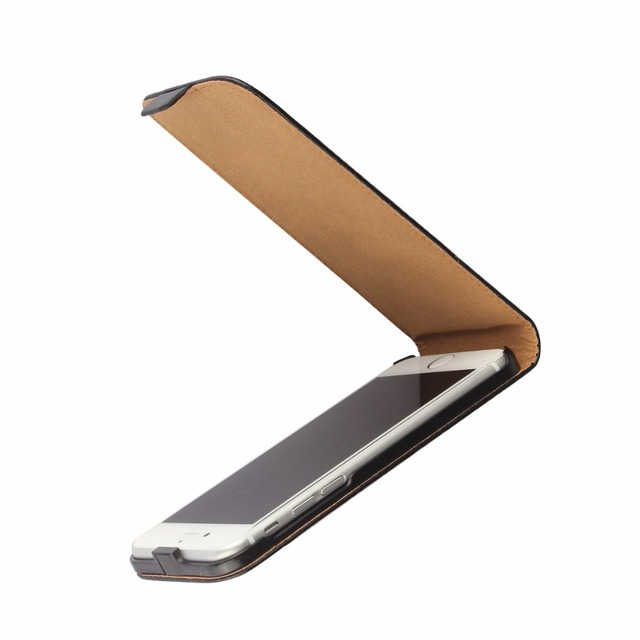 Ultra Thin Vertical Flip Protection Leather Case For iPhone 7