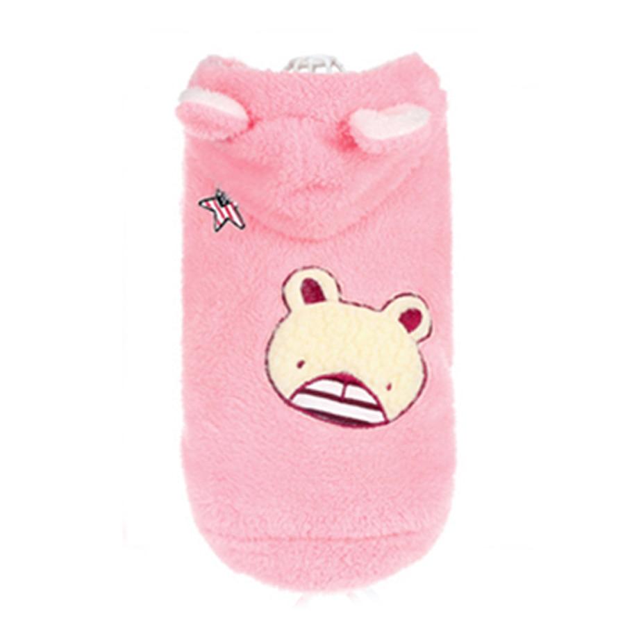 Winter Cat Coat Clothes Funny Costume Plush Cat Wear Pets Pink Kitten Clothes Leisure Suit Chat Vetement Supplies Cats 70P0034