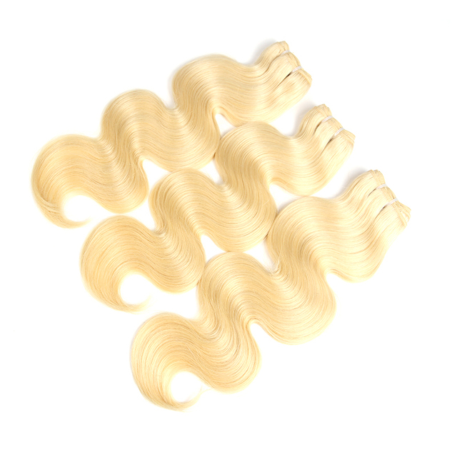 Brazilian Virgin Hair Body Wave 1/3/4 Blonde613/Natural Black/1b-613