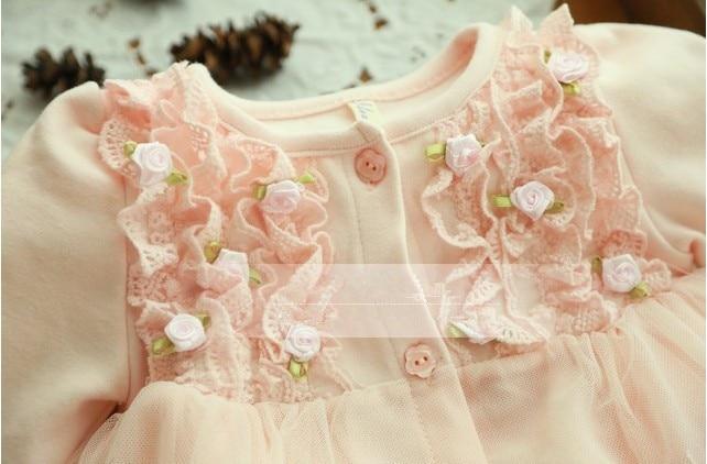 2020 Spring and autumn 0-2 yrs baby clothing floral lace lovely princess newborn baby tutu dress infant dresses vestido infantil