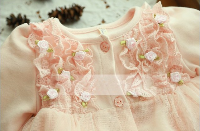 Spring and autumn   yrs baby clothing floral lace lovely princess newborn baby tutu