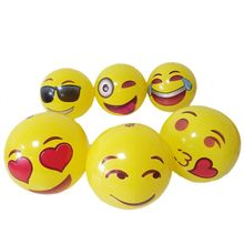 New 12pcs 12 Emoji Beach Balls Toy Ball Inflatable Bouncers Kids Children Toys