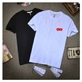 Off White Men T Shirt Cotton Casual Summer Tees Offwhite Classic Stripes Pattern T-Shirt off White Mens T Shirts Fashion 2016