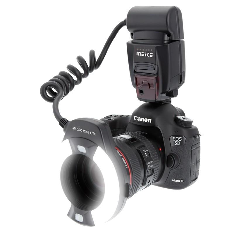 Meike MK-14EXT MK-14-EXT ETTL Macro TTL ring flash AF assist lamp For Canon DSLR Cameras 5D Mark II 7D 60D 600D 550D 450D meike mk 580 ttl camera flash speedlite for canon 580ex ii eos 5d mark ii iii 6d 7d 60d 600d 700d diffuser