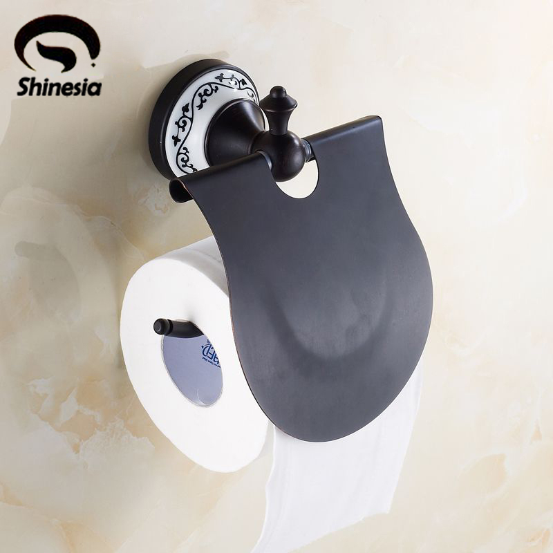 இRetro Style Oil Rubbed Bronze Flower Painted Bathroom Toilet Paper Awesome Paper Dispensers Bathroom Style