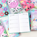 Domikee 2019 2020 year calendar school student hardcover pocket weekly planner notebook stationery,cute agenda planner organzier