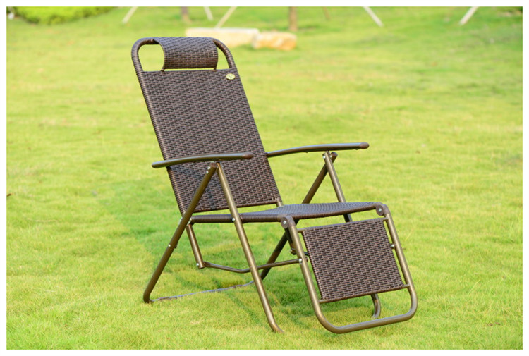 outdoor folding chairs chaise lounge lying bed rattan lazy chair