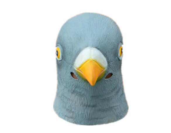 New Pigeon Mask Latex Giant Bird Head Halloween Cosplay Costume Theater Prop Masks Hot
