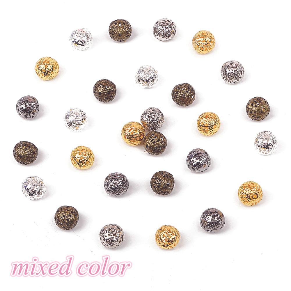 50pcs 12mm Tibetan Silver Flower Shape Metal Loose Spacer Beads Cap 38#