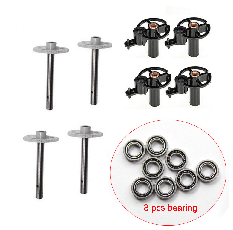 JJRC H8C H8D RC Quadcopter Spare Parts Set 8PCS bearings 4 Motor cover 4 gear Part kit 7 4v 500mah battery spare part for h8d h8c jjrc h8c rc quadcopter