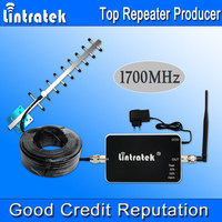 Lintratek AWS Amplifier FDD 4G LTE Band 4 Cell Phone Signal Repeater AWS 1700/2100 Signal Booster Yagi Antenna Set Hot Sell S20