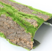 30x50cm Real Dried Pine Tree Bark with Artificial Moss for Water Pipe pillar wrap tree skin fake plant flowers DIY Decoration