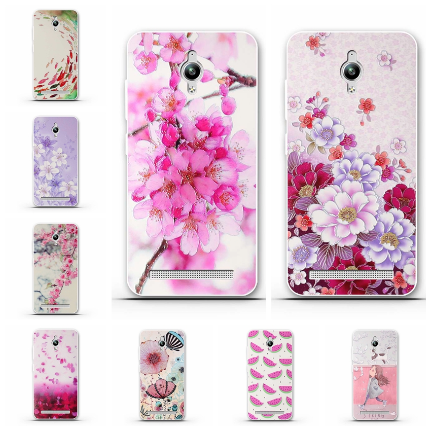 Colorful Flower Painting Phone Case For ASus Zenfone Go ZC451TG Z00SD ZenFoneGo 4.5 inch Cases Soft TPU Phone Shell Bag For ASus