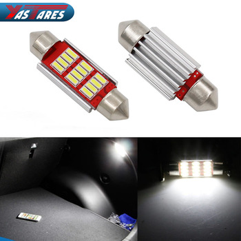 цена на 1PC 31mm 36mm 39mm 41mm C5W C10W CANBUS NO Error Auto Festoon Light 12 SMD 4014 LED Car Interior Dome Lamp Reading Bulb DC 12V