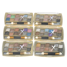 12 Colors Glitter Diamond Eyeshadow Eye Shadow Palette Makeup Cosmetic Brush Set Beauty Matte Cosmetics Make Up With Brush