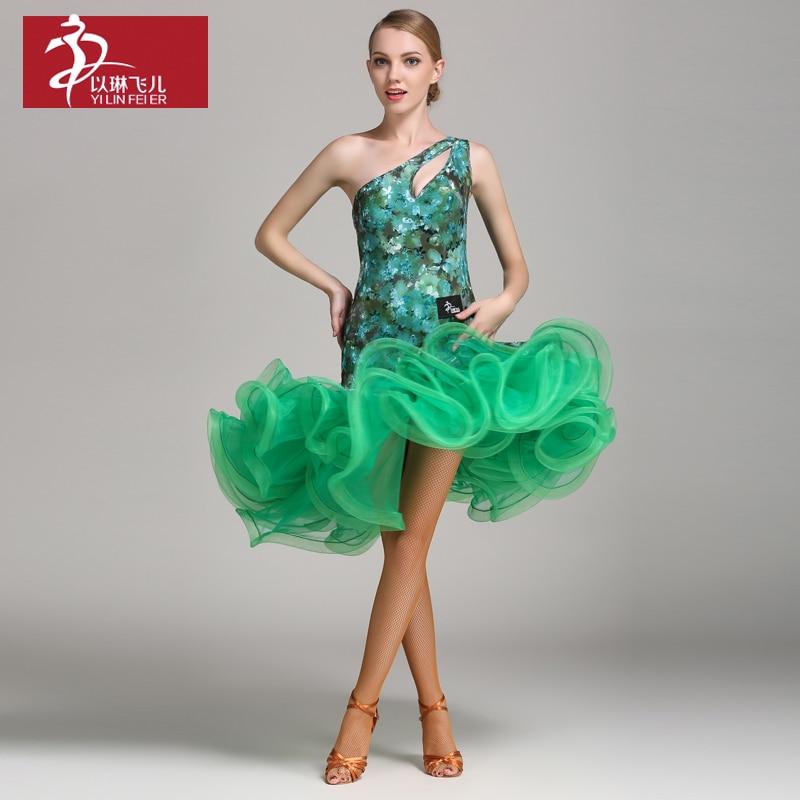 New fashion Women Latin Dance Costume Adult Samba Rumba Tango Latin Dance performance dress