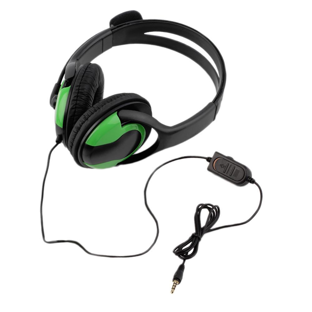 New 3.5mm Audio Wired gaming Headset Headphone Earphone Steoro Microphone for PlayStation 4 PS4 Gaming PC Chat For iPad/Mp3/4