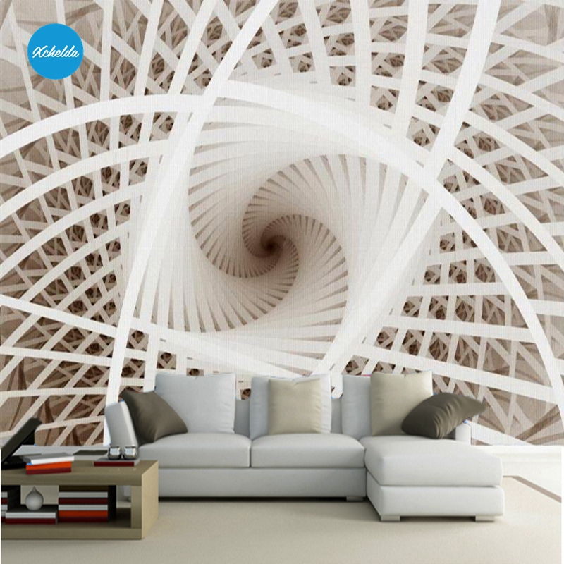 XCHELDA Custom 3D Wallpaper Design Rotate Building Photo Kitchen Bedroom Living Room Wall Murals Papel De Parede Para Quarto kalameng custom 3d wallpaper design street flower photo kitchen bedroom living room wall murals papel de parede para quarto