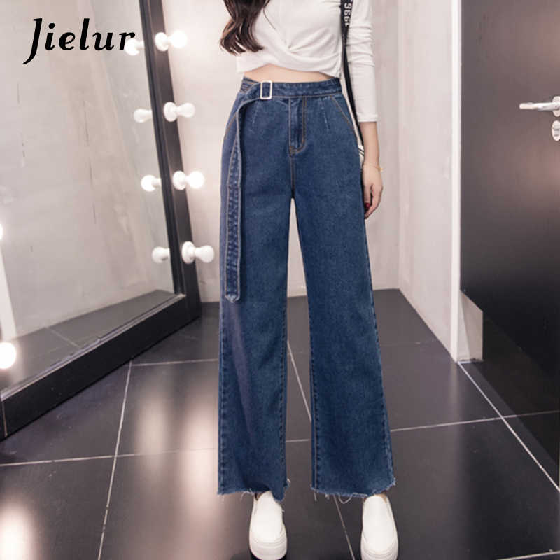 6fa6eedce51 Detail Feedback Questions about Jielur 2019 Autumn New Fashion Flare Pants  Female Large Size S 5XL Sashes Blue Jeans for Women Slim Casual Loose  Women's ...