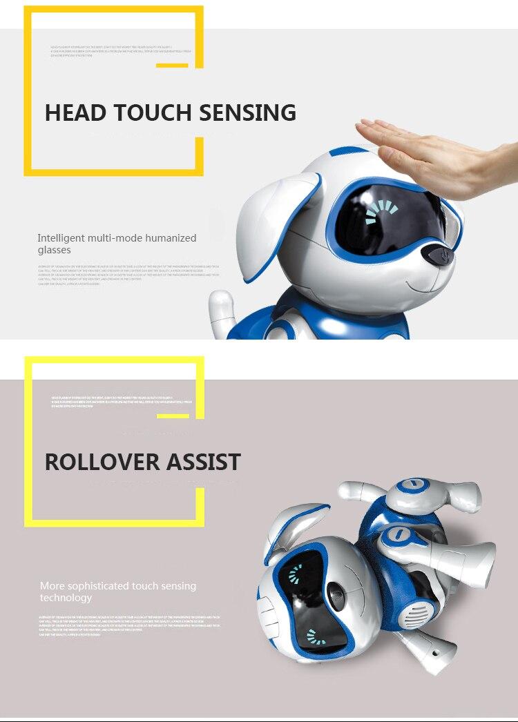 Brinquedo de indução cão controle inteligente robô