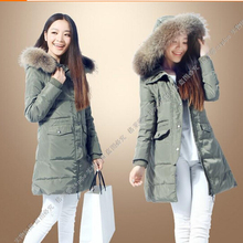 Free ship Nice new winter duck down long parka S-XXXXXXL women fashion fur collar jacket ladies warm long coats plus size S1326