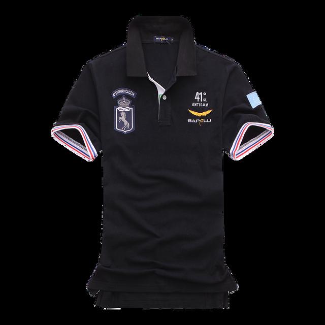 12a0f86dc02fd Camisa Polo da marca Homens Casuais polo de manga curta camisas Camisa  Masculina Homme Camisetas XXL