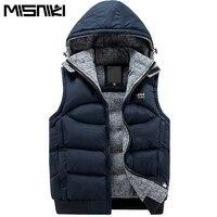 New Stylish Autumn Winter Vest Men High Quality Hood Warm Sleeveless Jacket Waistcoat Men