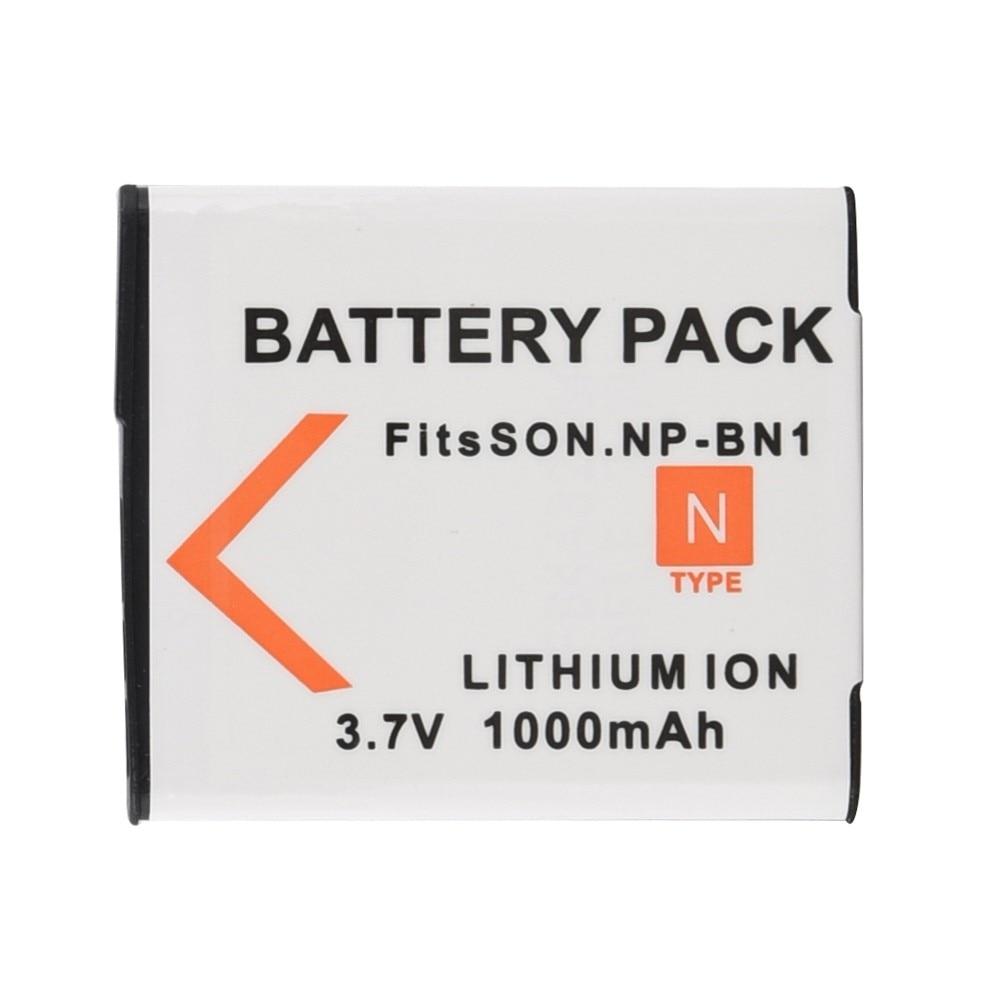 1000mAh NP-BN1 NP BN1  Digital Battery For Sony TX9 WX100 TX5 WX5C W620 W630 W670 TX100 Camera Replacement Li-ion Bateria Pack