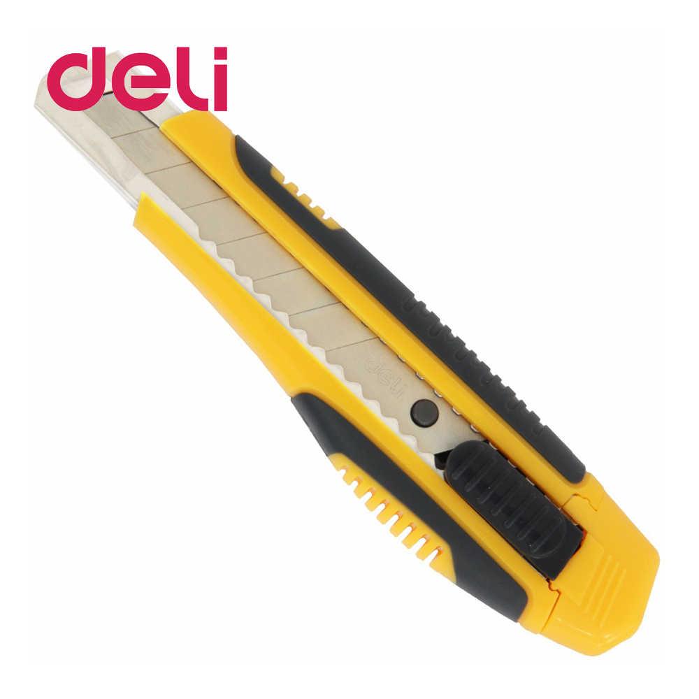 Deli 1 piezas la escuela, la Oficina de Suministros 18mm cuchillo de diámetro de la cuchilla de hoja de 10 cm de longitud de empujar y sacar al azar