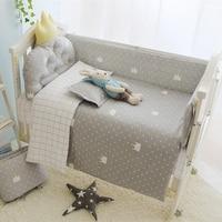 ホットins赤ちゃんcirb beddingセット北欧スタイル子供beddingセット各種サイズ利用可能な100%コットン新生児ベビーベッドセット赤ちゃん保育