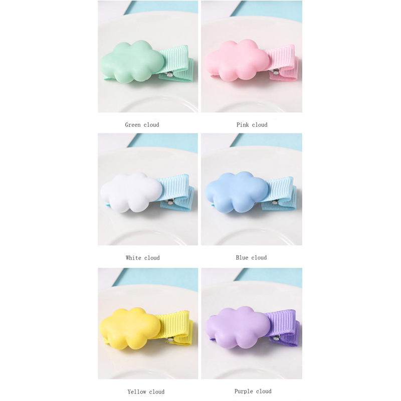 New Arrivals Kids Hair Accessories Headwear Cloud Shape Lollipop Hairpins Headdress Cartoon Colorful Rainbow Hair Clip For Girls