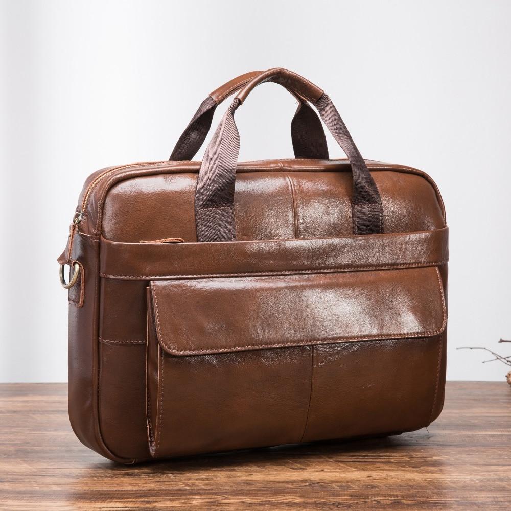 Gepäck & Taschen Aktentaschen Ausdauernd Männer Qualität Leder Antike Mode-business Aktentasche 15,6 laptop Fall Attache Portfolio Tasche Eine Schulter Umhängetasche 1119