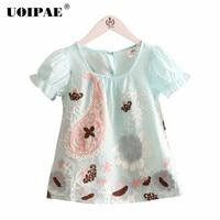 Girls Short Sleeve T-shirt Summer 2018 New Fashion Cartooon Baby Girl T Shirt O-neck Beautiful Kids Clothes 2888W