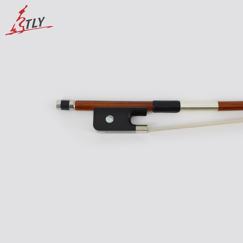 все цены на  Master Handmade French-style Brazilwood Double Bass Bow 4/4 High Quality Horsehair Fisheye Inlayed Ebony Frog w/ Colored Shell  в интернете