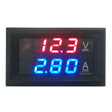 Mini Digital Voltmeter Ammeter DC 100V 10A Panel Amp Volt Current Meter Tester with Dual LED Display