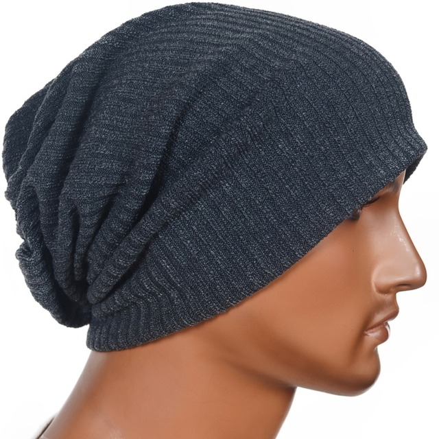 Mens Slouchy Beanie Skullcap Large Lined Hat Toweling Cap FORBUSITE ... b82c134478a