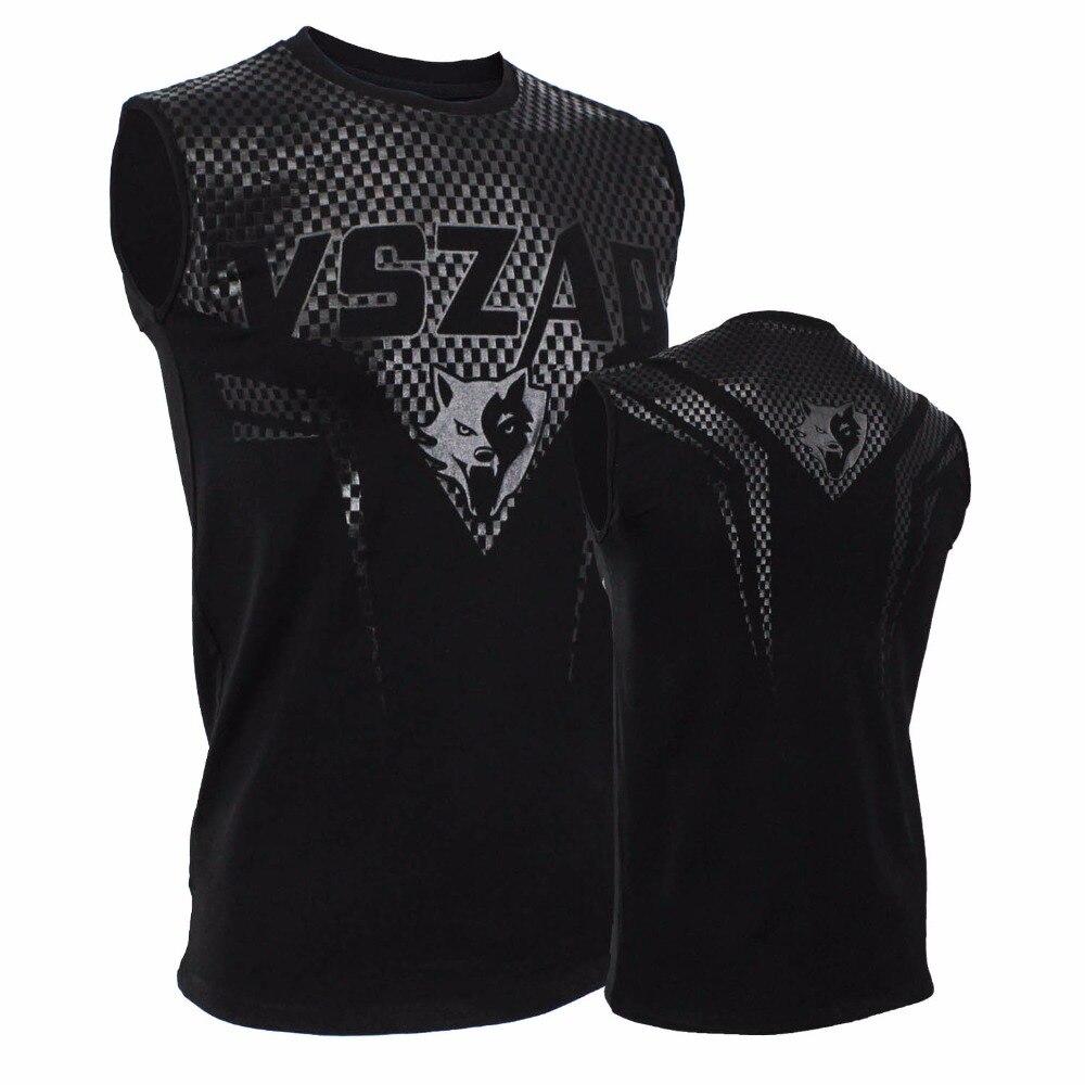 2017 MMA  VSZAP SHARP Sleeveless Vest T-shirt Fighting Muay Thai Fighting Fitness  Windskin Muscle Exercise