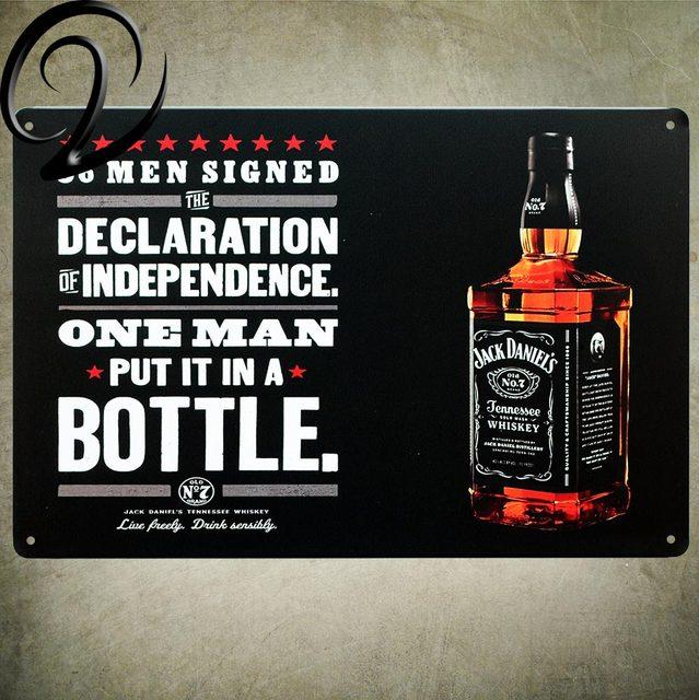 Jack Daniel\'s &Cola Tin Signs Shabby Chic Wall Art Sign Home Bar Pub ...