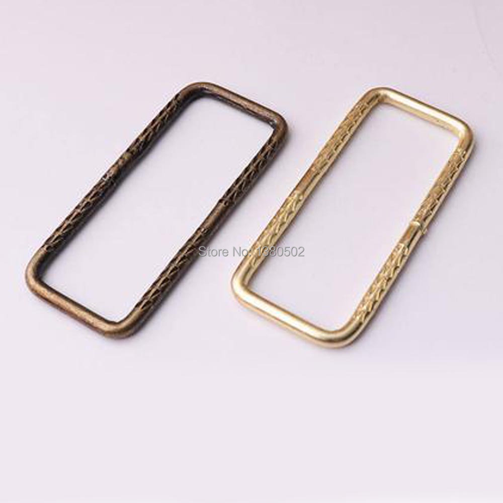 Cheap Price 6pcs/lot Rectangle Ring Bronze And Gold Color For Belt Buckle Backpacks Handbag Diy Accessories Superior Materials Apparel Sewing & Fabric