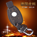 For Mercedes Keychain Rings C180 C260 C E S G Class Glk Ml Leather Key Holder For Benz Accessories Car Key Wallet Bag Cover