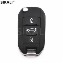 Car Remote Key for 208 2008 301 308 3008 408 4008 508 5008 Auto Keyless Entry 3 Buttons HELLA 434Mhz