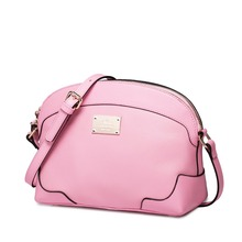 2016 New Women's Fashion Cowhide Leather Saddle Handbag Messenger Crossbody Bag Shoulder Bag Cross Body Purse