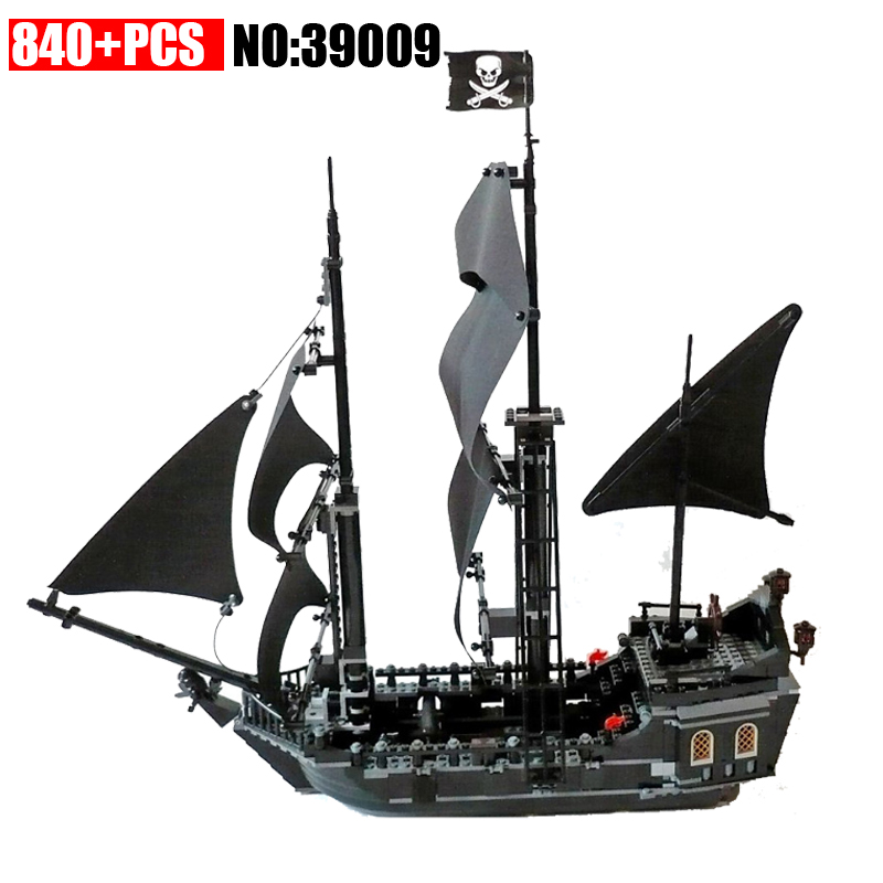 New 39009 Pirates series The Black Pearl model Building Blocks Compatible 4184 Classic Caribbean Pirates ship Toys for children waz compatible legoe pirates of the caribbean 4184 lepin 16006 804pcs the black pearl building blocks bricks toys for children
