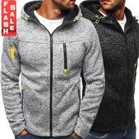 Для мужчин Спортивная повседневная одежда на молнии COPINE мода прилив жаккардовые толстовки с капюшоном флисовая куртка осень кофты пальто о...