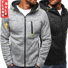 Los hombres deportes Casual desgaste cremallera COPINE de marea de la moda Jacquard sudaderas con capucha de lana chaqueta de otoño sudaderas otoño abrigo de invierno
