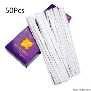 Image 2 - 50 개/대 흡연 파이프업자 혼합 면화 막대 담배 연기 마우스 피스 편리한 일회용 청소 도구 액세서리