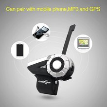 T-Rex Full Duplex Motorcycle Group Talk System 1500M 8-Way BT Interphone FM Radio Bluetooth Helmet Intercom Headset